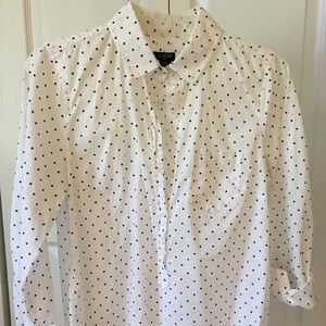 J. Crew Poke-a-dot Button Up